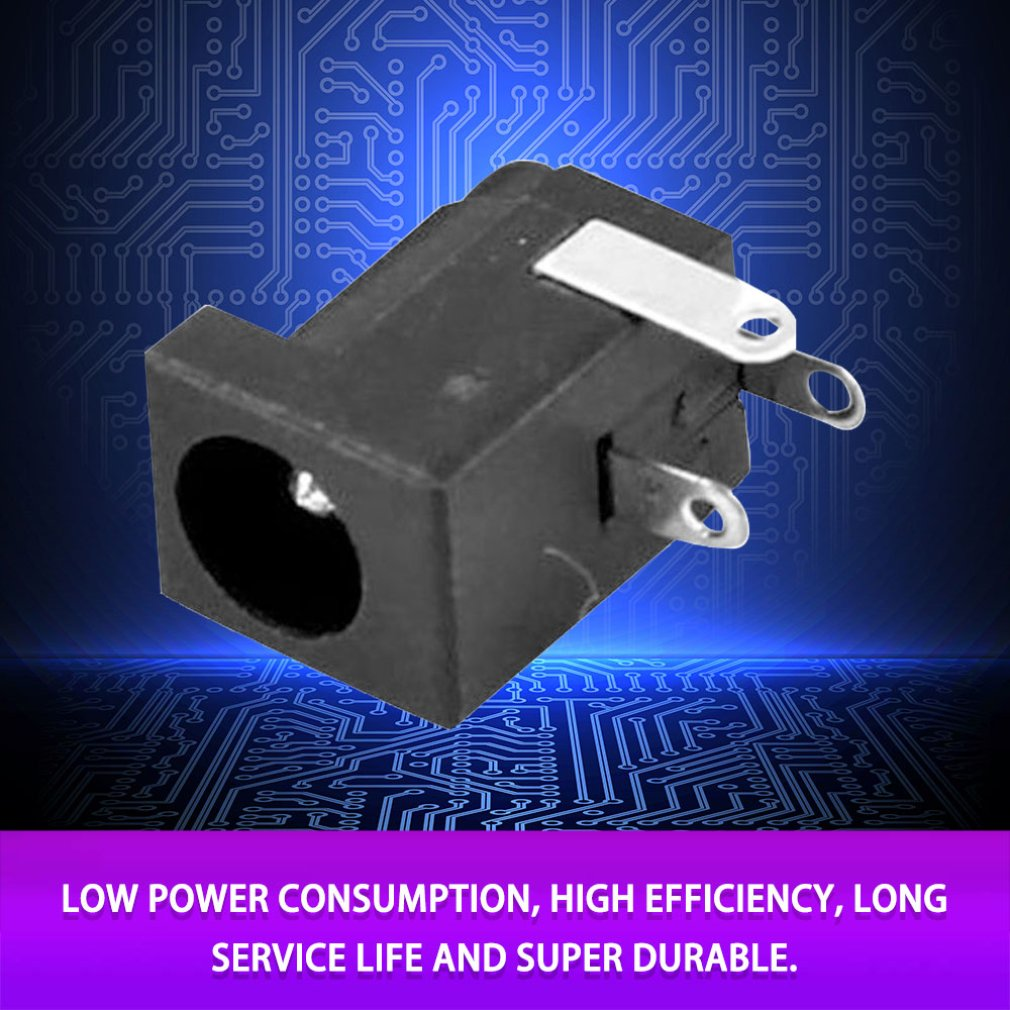 10pcs DC 5.5mm x 2.1mm Power Supply Sockets Female Jack Connectors