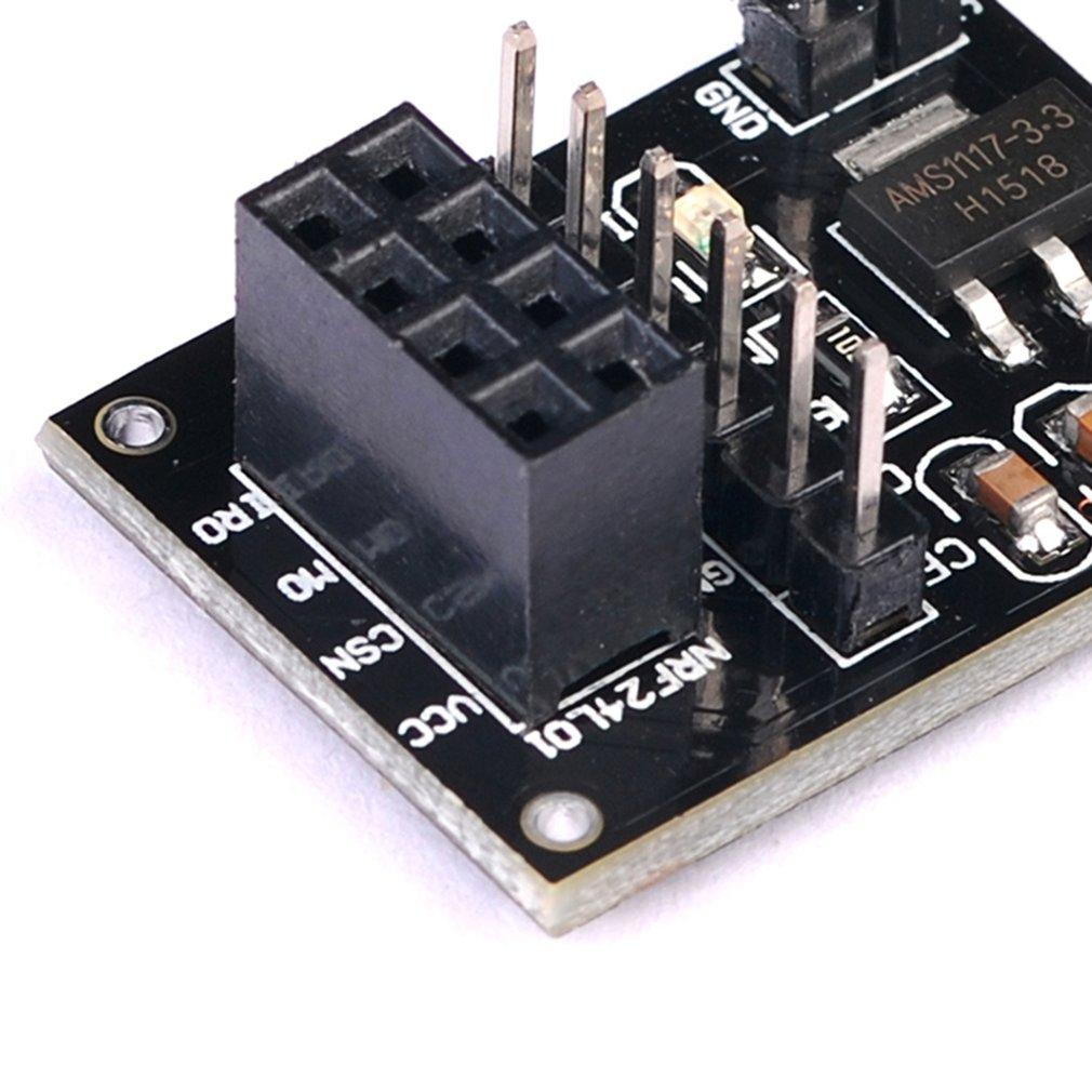 New NRF24L01 Wireless Transceiver Socket Adapter Board 8Pin 3.3v Regulator