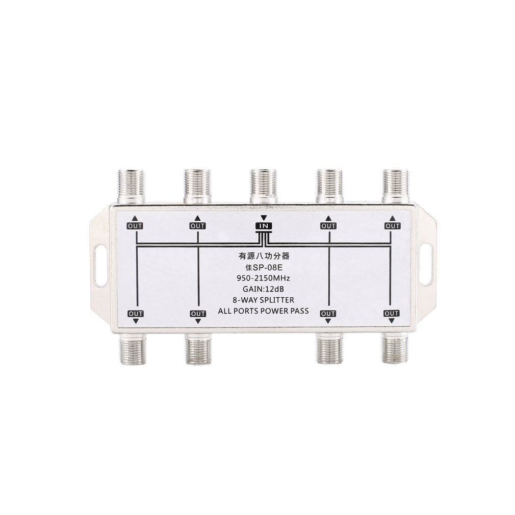 Product Name: Six-Way Satellite Signal Splitter Zinc alloy die-cast  housing, tin-plated. Small size, light weight. Installation is simple, both  sides of the ...