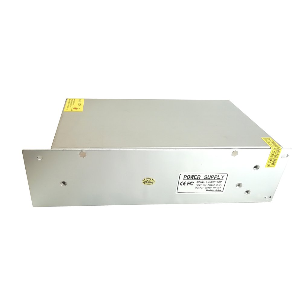 Switching Power Supply Dc 48v 25a 1200w Adapter Driver Built In Emi Filter With Overload Short Circuit Transformer