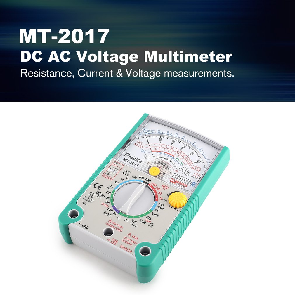 Details about Proskit MT-2017 AC/DC Analog Graph Pointer Multimeter  Resistance Capacitance F7