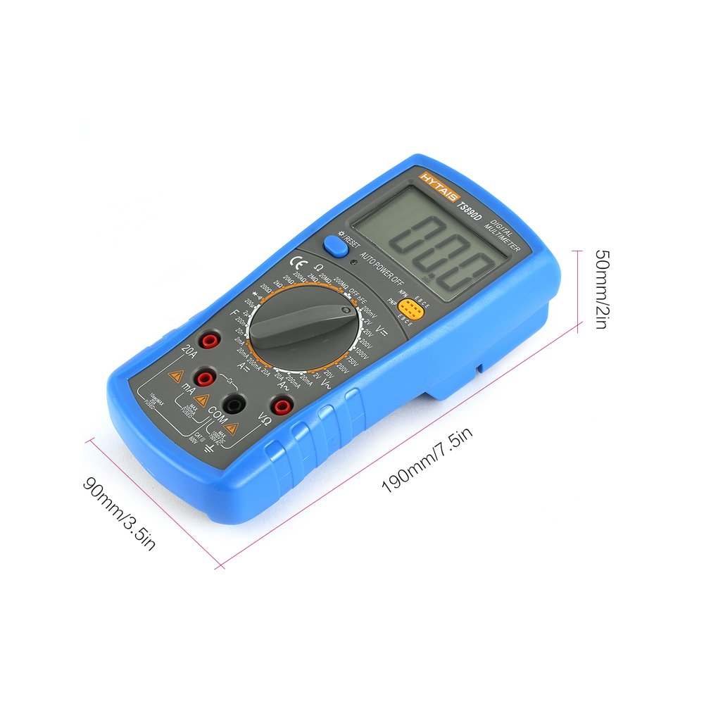 Details About Lcd Digital Multimeter 1999 Counts Voltmeter Ammeter Ac Dc Ohm Tester Lot Ay Circuit Checker