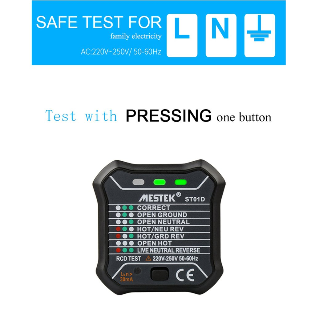 St01d Socket Outlet Tester Circuit Polarity Voltage Automatic Digital Screwdriver Buy Testercircuit Queen Club99