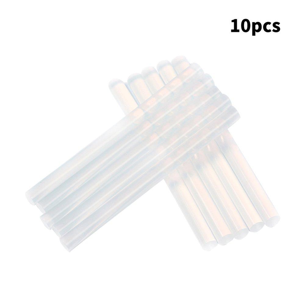 Electric Glue Gun Craft Repair 10pcs 7mm Translucent Hot Melt Glue Stick