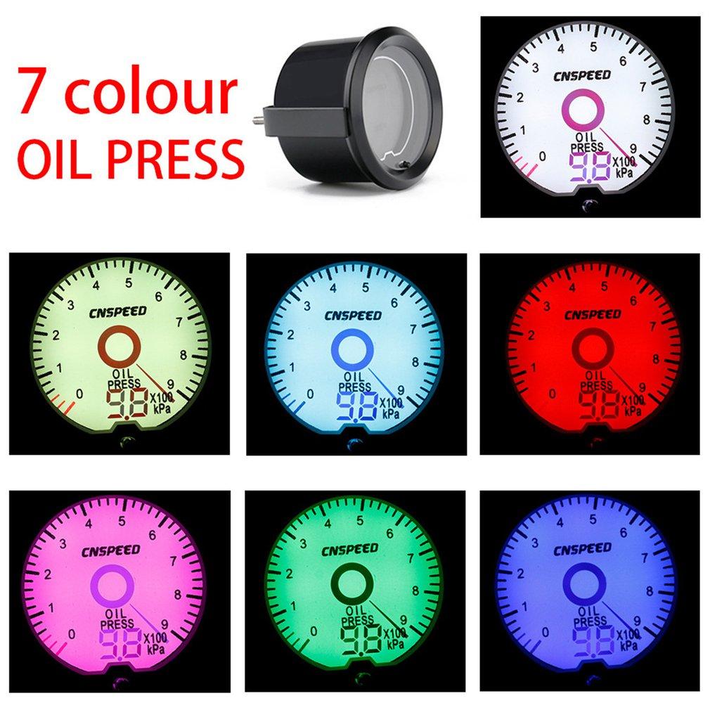 """52 DIA 2/"""" CHROME DIAL 0-7 BAR OIL PRESSURE GUAGE METER FUEL TANK METER @ UK"""