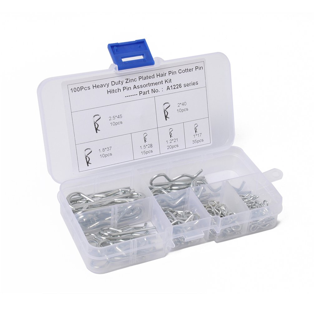 150X R Cotter Pin Assortment Hitch Pin Clips Fastener Set 6 Sizes Hot