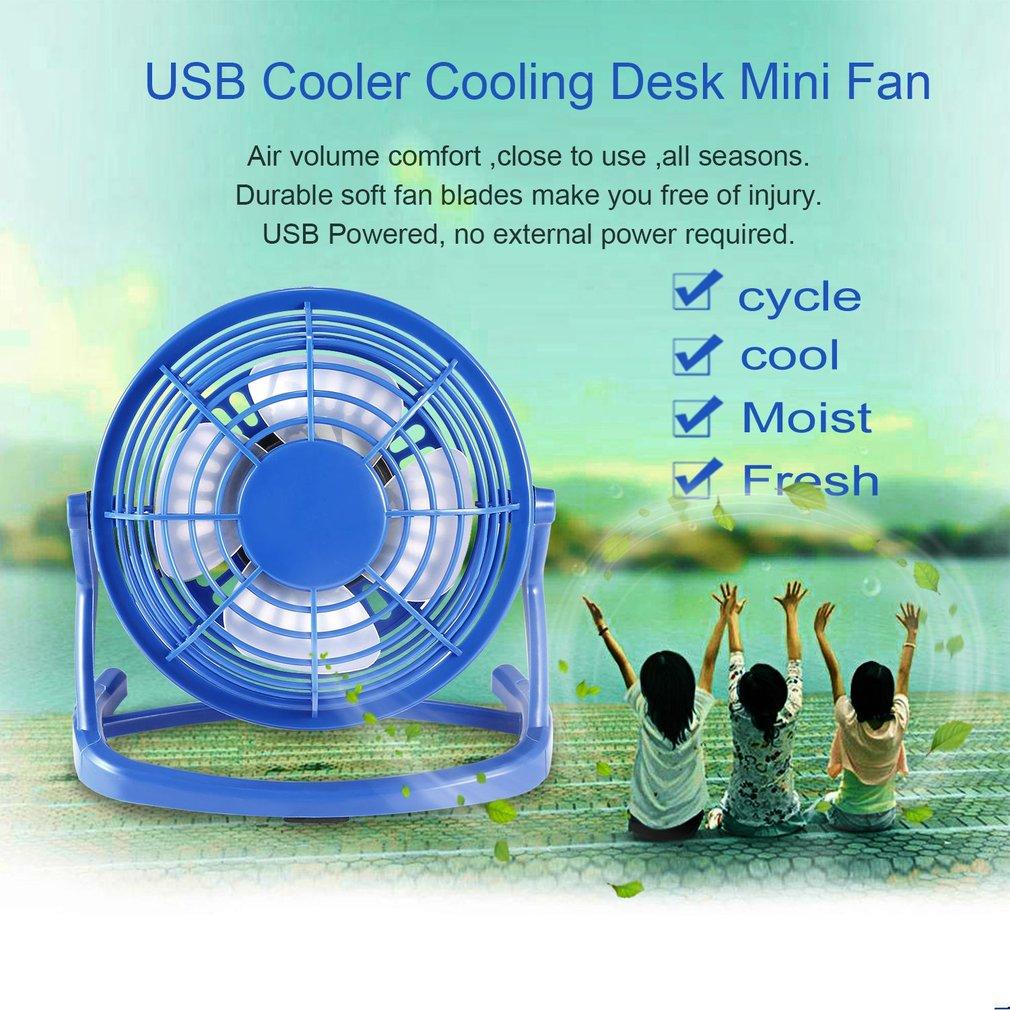 USB Fan Mini Portable Desktop Cooling Desk Quiet Fan Computer Laptop ...