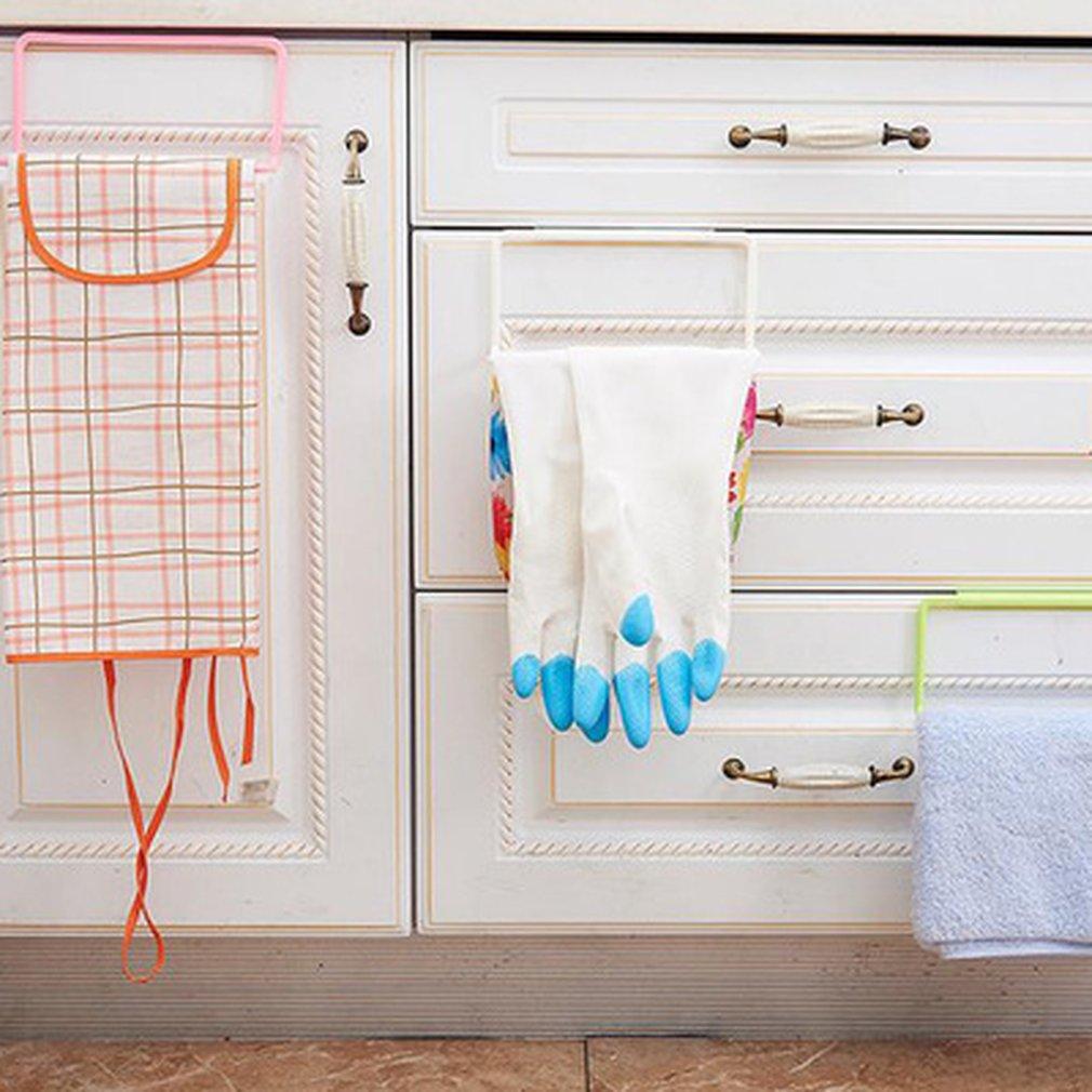 Towel Rack Bar Hanging Holder Rail Organizer Bathroom Cabinet Door ...