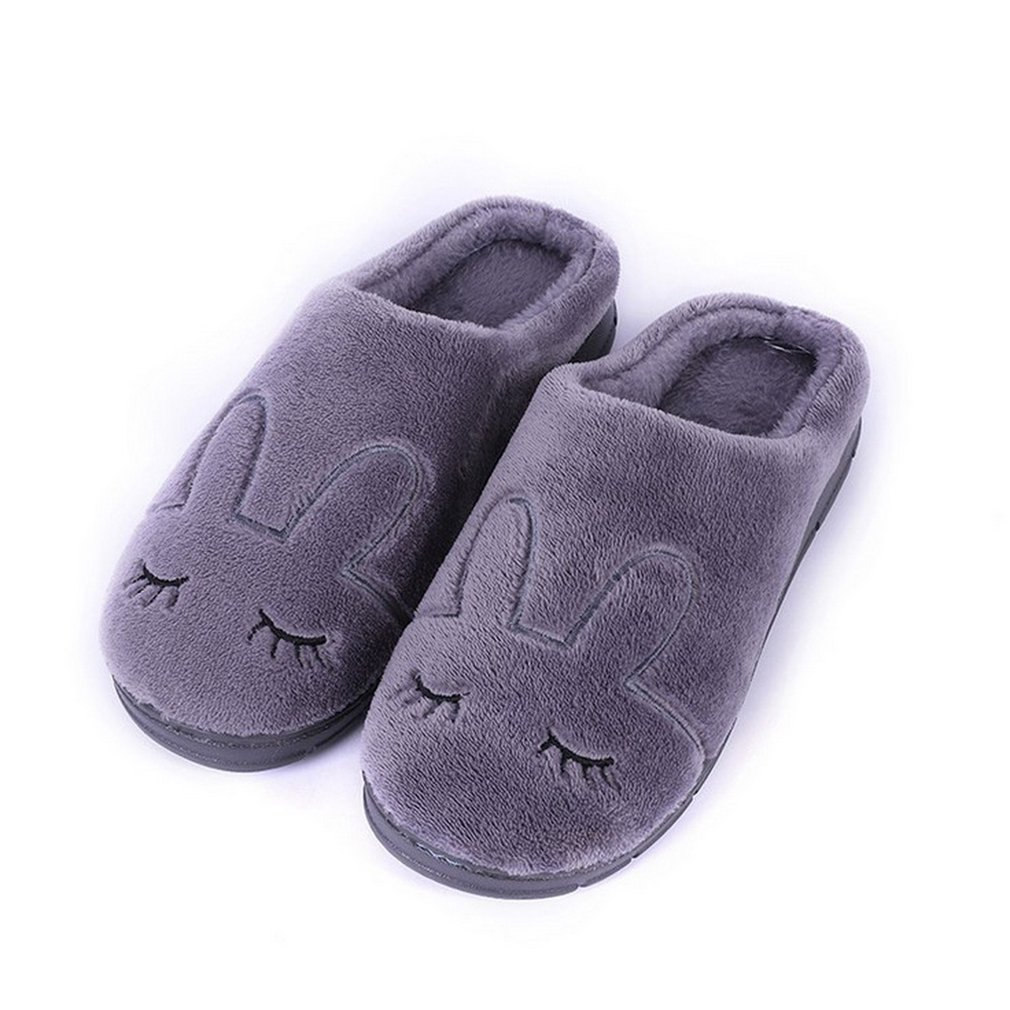 ac6437bcfd92 Wooden Floor Home Slippers Shoes Cotton Anti-Slip Shoes Winter Warm ...