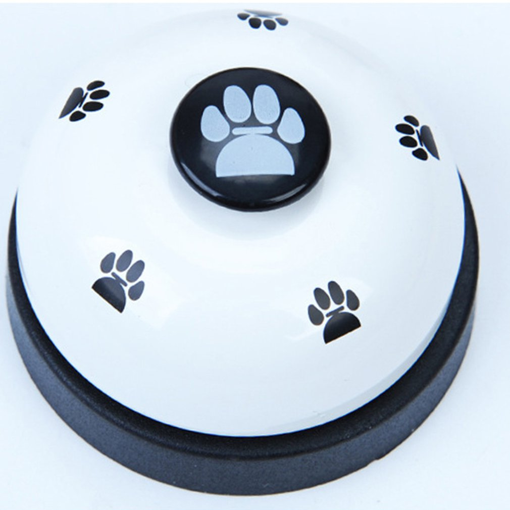 Pet Dog Trainer Sound Bells Squeaky Feeding Food Bell Dog