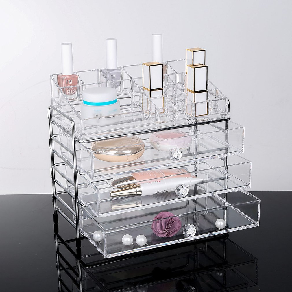 Clear Makeup Organizer Acrylic Storage Box Cosmetic Organizer NS