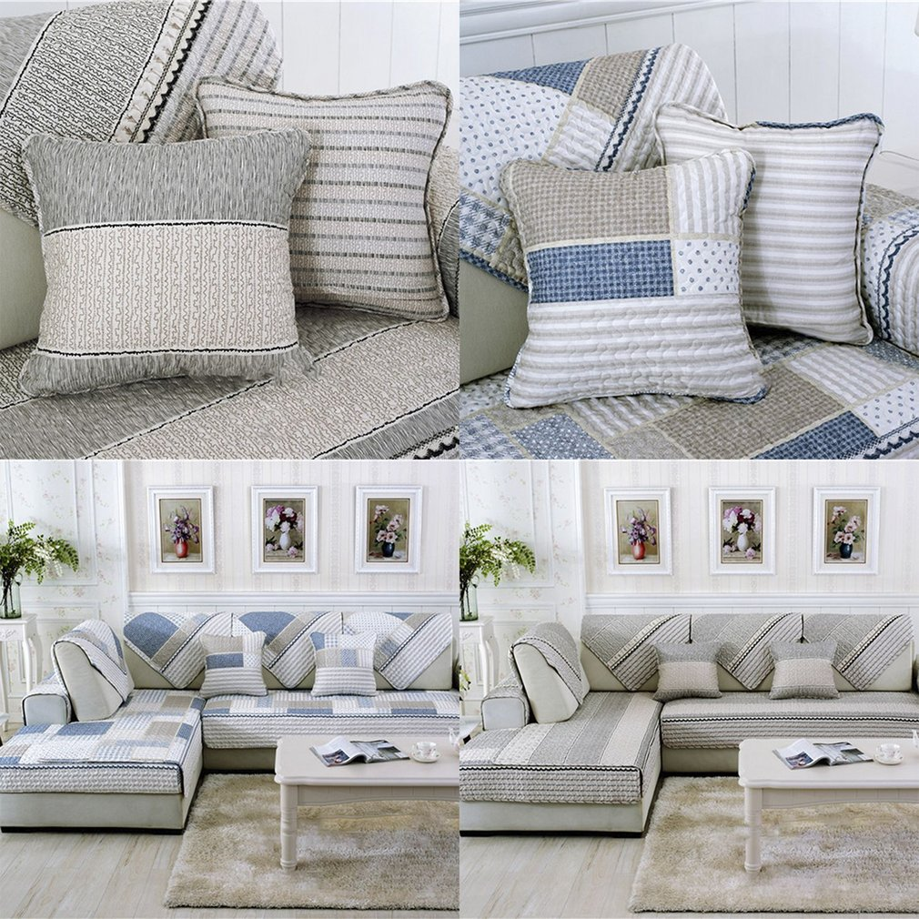 Four seasons modern sofa furniture couch seats mat cotton cover 7070cm sy