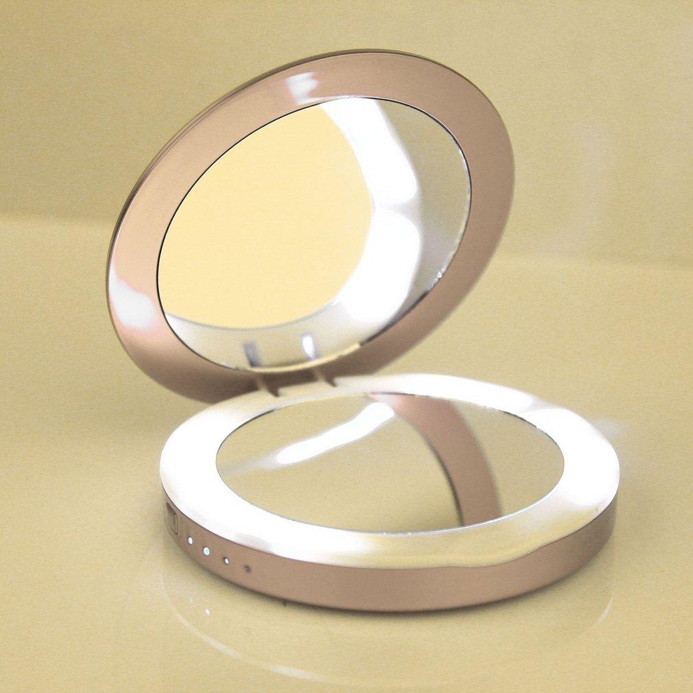 5000MAH Portable Size Women Cosmetic Mirror Style USB