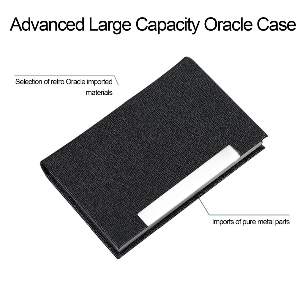 Stainless steel pu leather oracle texture business card cigarette stainless steel pu leather oracle texture business card cigarette holder case ma colourmoves Choice Image
