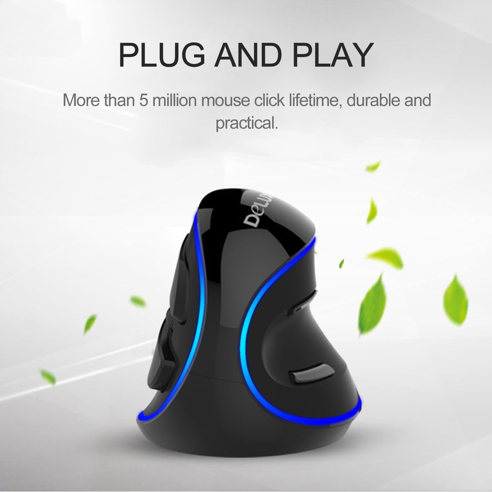 786d42346 Delux M618 Wireless Vertical Ergonomic USB Optical Mouse Upright ...