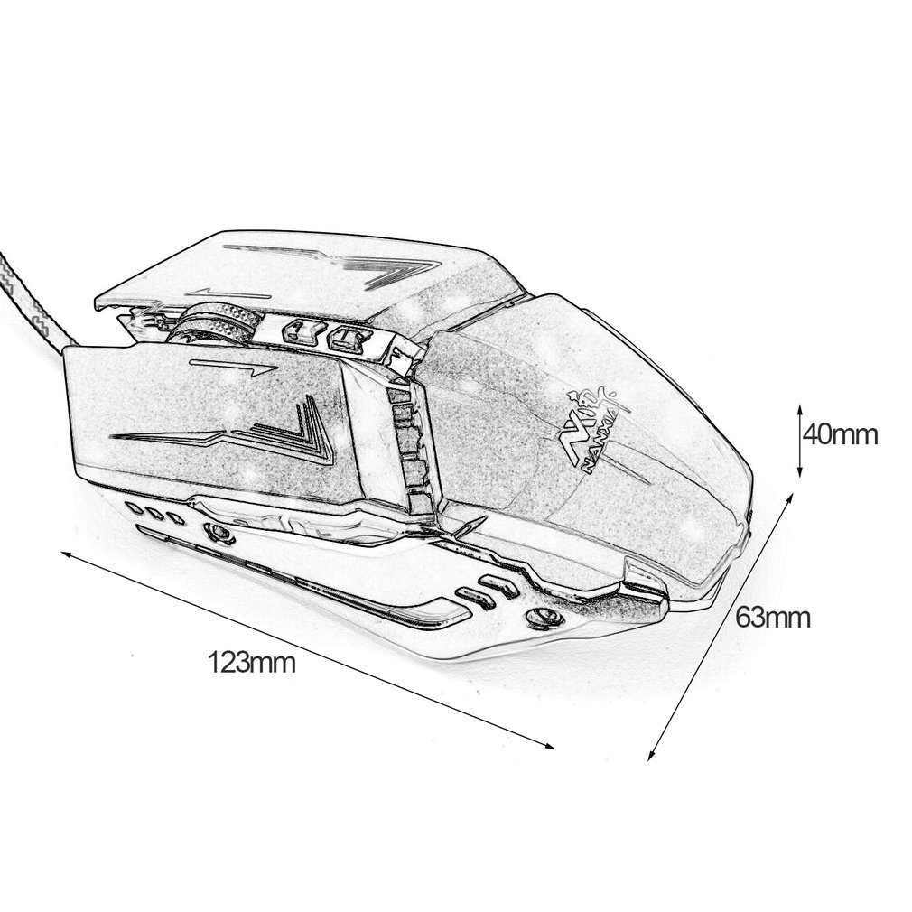 M620 8d Usb Wired Gaming Mouse Optical Mice Gamer Computer Backlight Wiring Diagram Item Specifics
