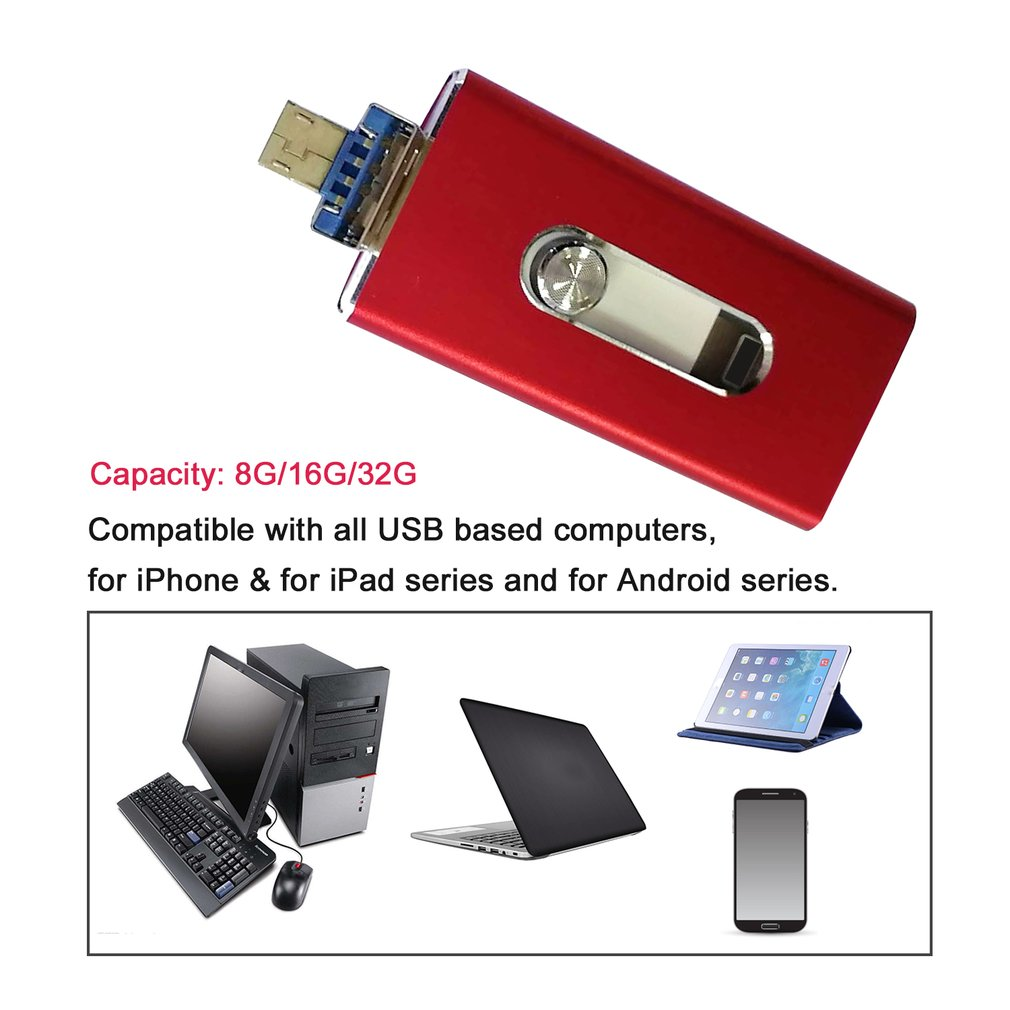 USB i Flash Drive OTG Device Memory Stick For iPhone iPad Android IOS 32GB