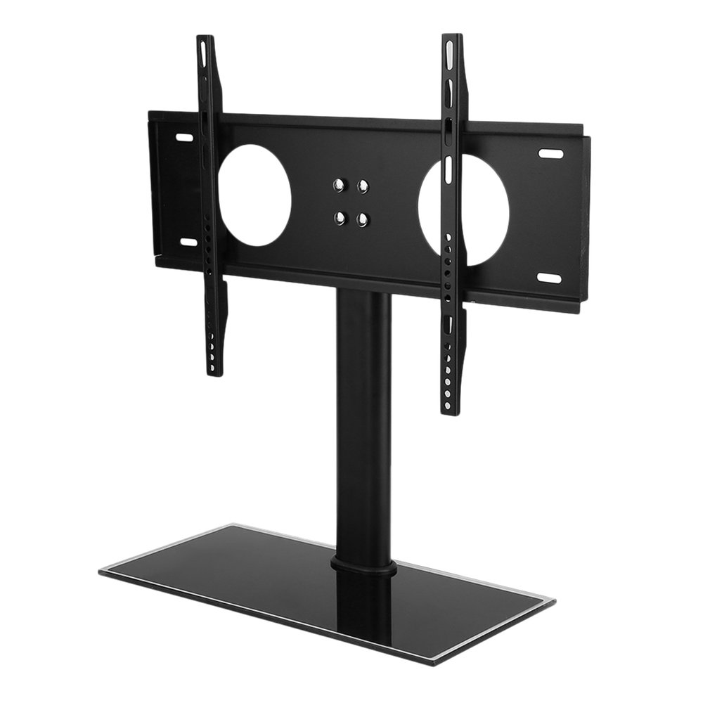 top glas universal design tv standfu 32 55 80 140 led lcd halter halterung ye ebay. Black Bedroom Furniture Sets. Home Design Ideas