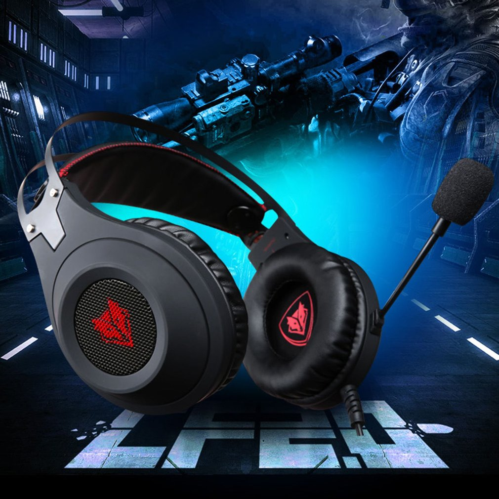 2017 NUBWO N2 Gaming Headset USB with Microphone Volume Control LED ...