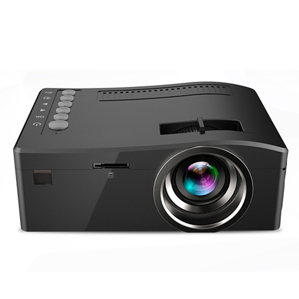 Uc18 portable projector with hdmi tf card usb led for home for Portable projector with hdmi input