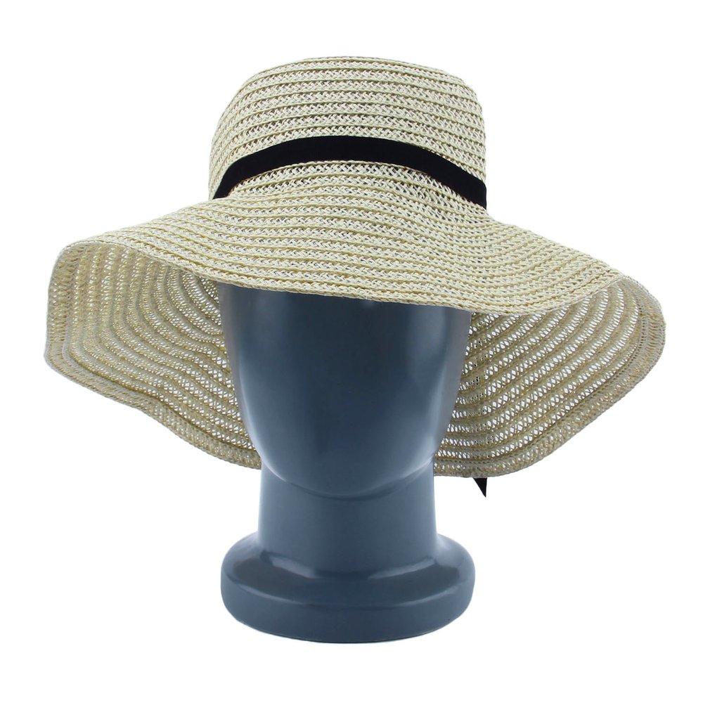Fashion Elegant Women Girls Outdoor Sun Hats Caps Summer Beach Hat Straw  Cap RT 58069e1c950b