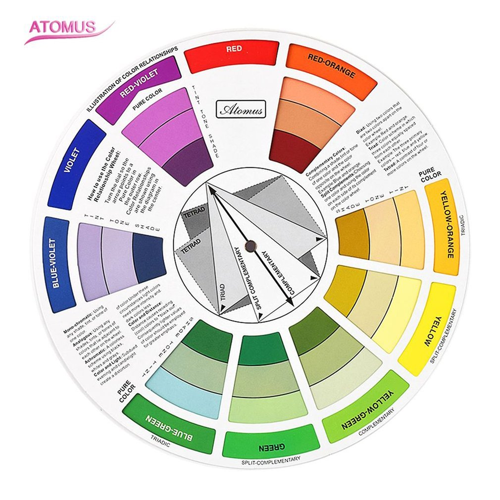 Color Wheel For Tattoo Permanent Makeup Accessories Mixture Color