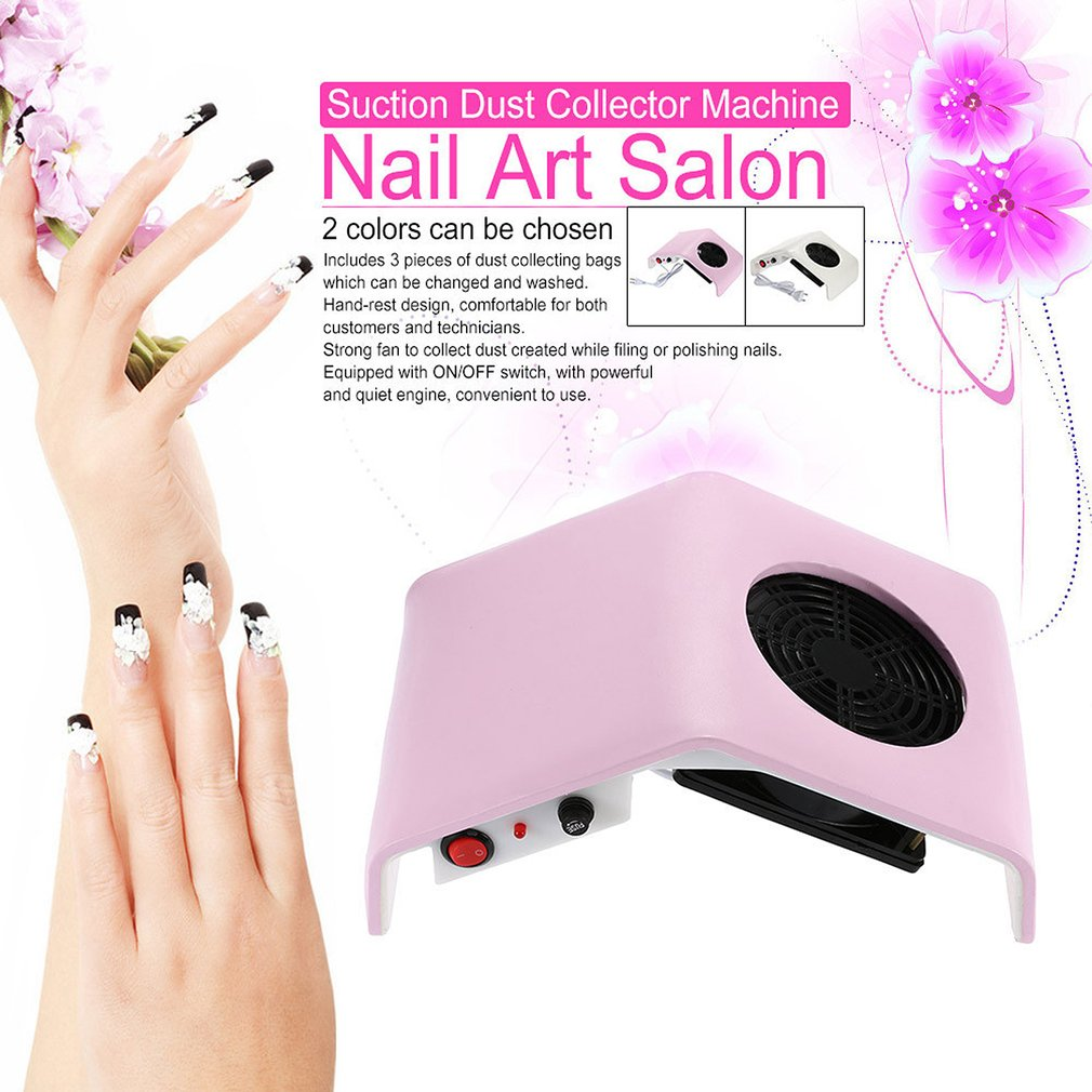 Convenient 30W 220V / 110V Suction Nail Dust Collector Machine ...