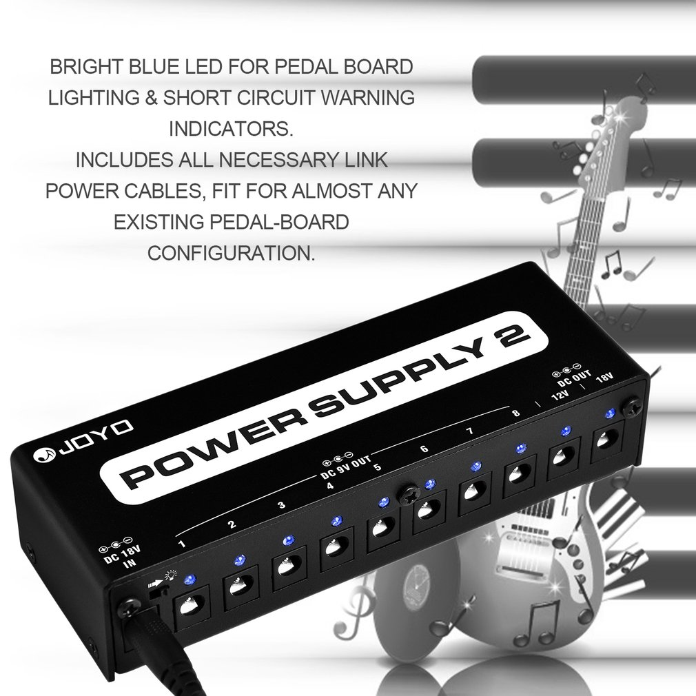 Jp 02 Power Supply Guitar Pedal Device 10 Isolated Outputs 3 9v Schematic Get Free Image About Wiring Options