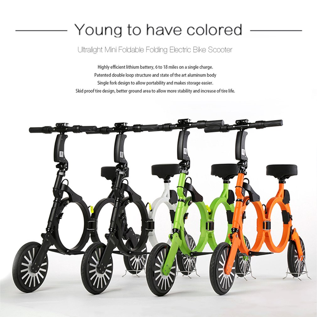 ultralight foldable backpack e bike folding electric bike scooter 2 wheel jp ebay. Black Bedroom Furniture Sets. Home Design Ideas