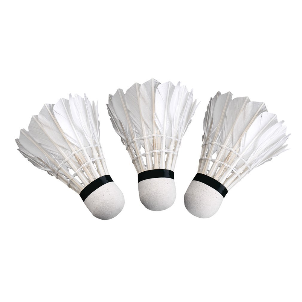 3pcs Game Sport Training White Duck Feather Shuttlecocks Badminton Ball@PL Bälle