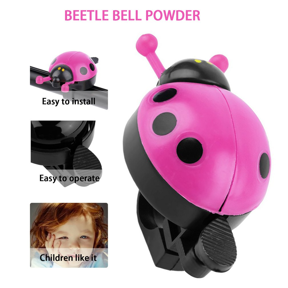 Bicycle Bell Ring Kid Beetle Ladybug Ring Bell For Cycling Bike Ride Horn Alarm