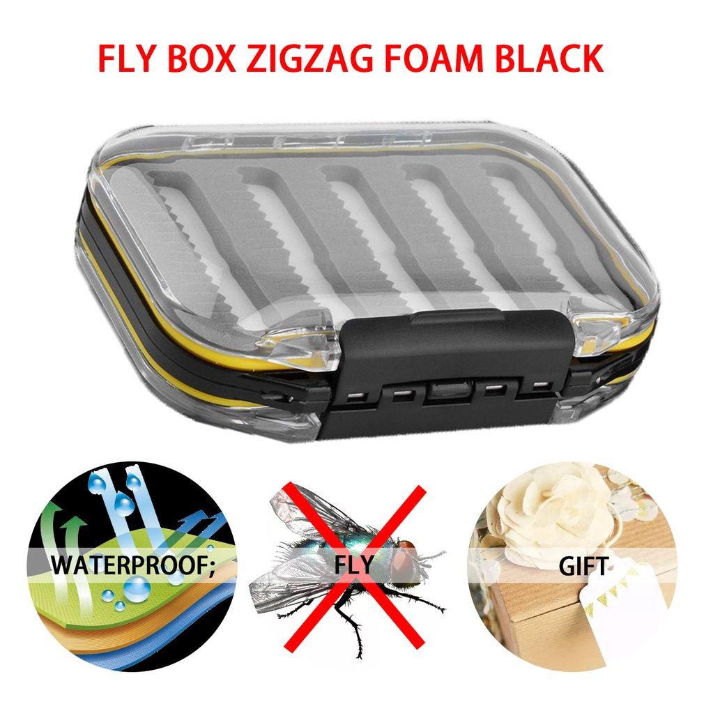 Double Side Waterproof Pocket Fly Fishing Box Slid Foam Insert 170 Flies A BR