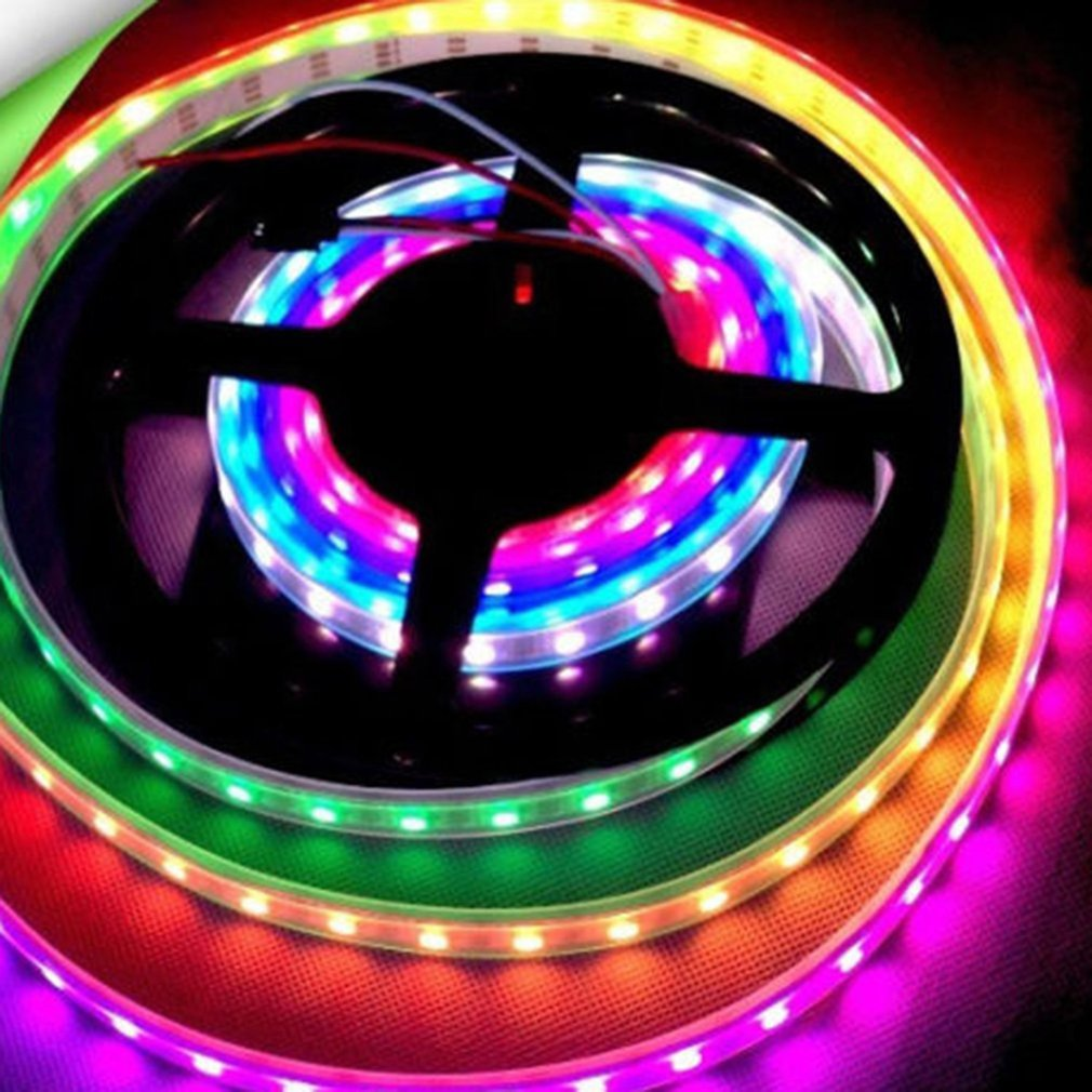 Ws2811 5050 Rgb Led Strip Light Waterproof Individually Addressable Dc 12 V Ra