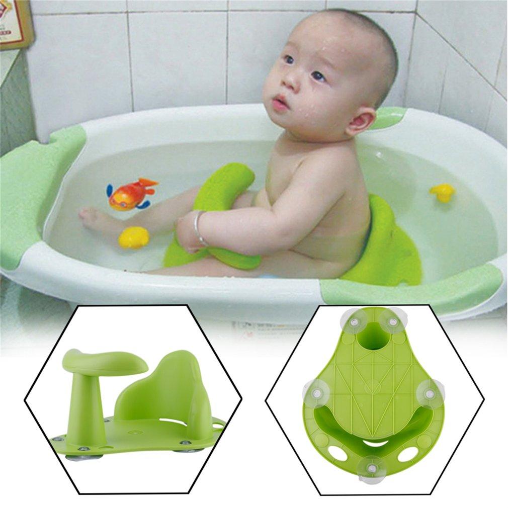 Green Baby Bath Tub Ring Seat Infant Child Toddler Kids Anti Slip ...