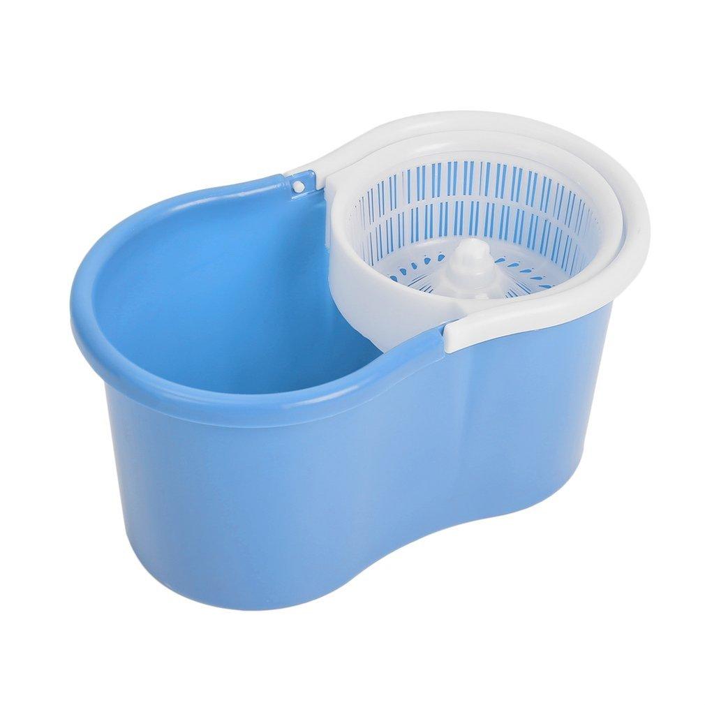 Magic-360-Degree-Spin-Floor-Mop-amp-Spin-Dry-Bucket-Clean-w-2-Mop-Heads-XT-IK