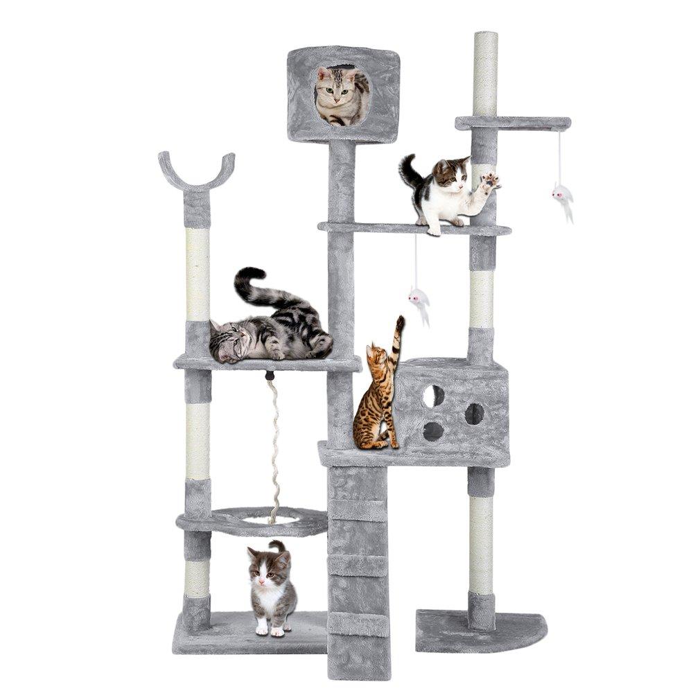Cat Scratching Post Tree Pole Scratcher Gym Activity