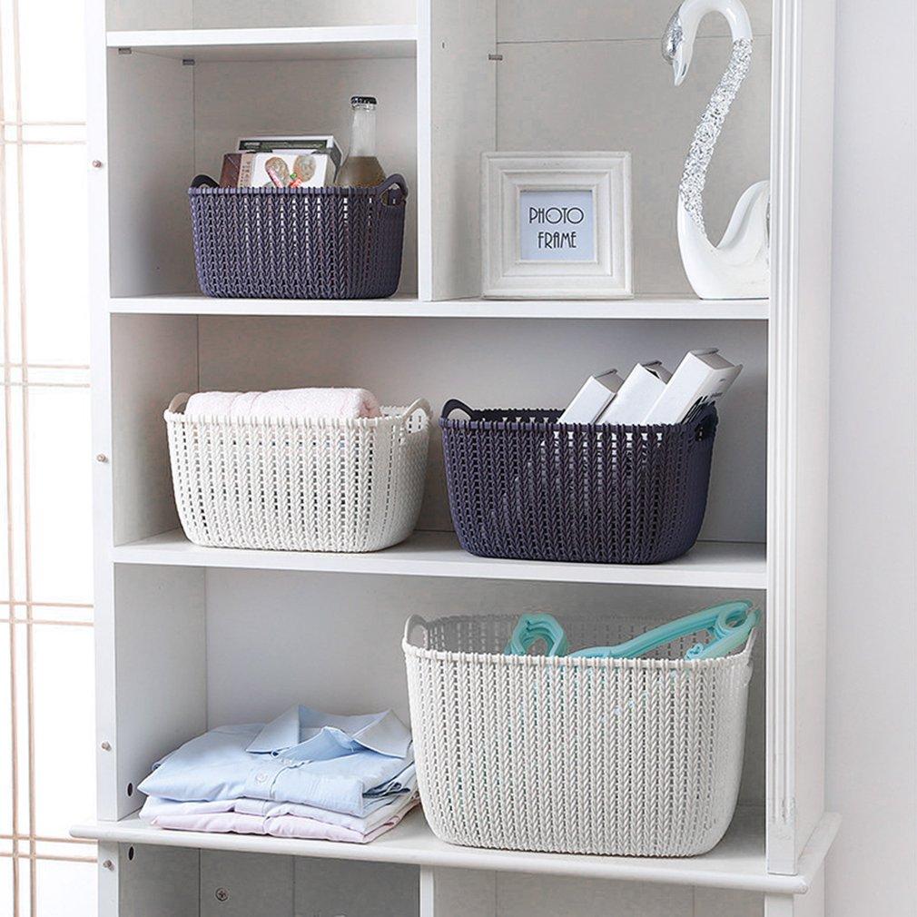 Plastic Weaving Rattan Basket Multifunction Bathroom Shower Storage ...