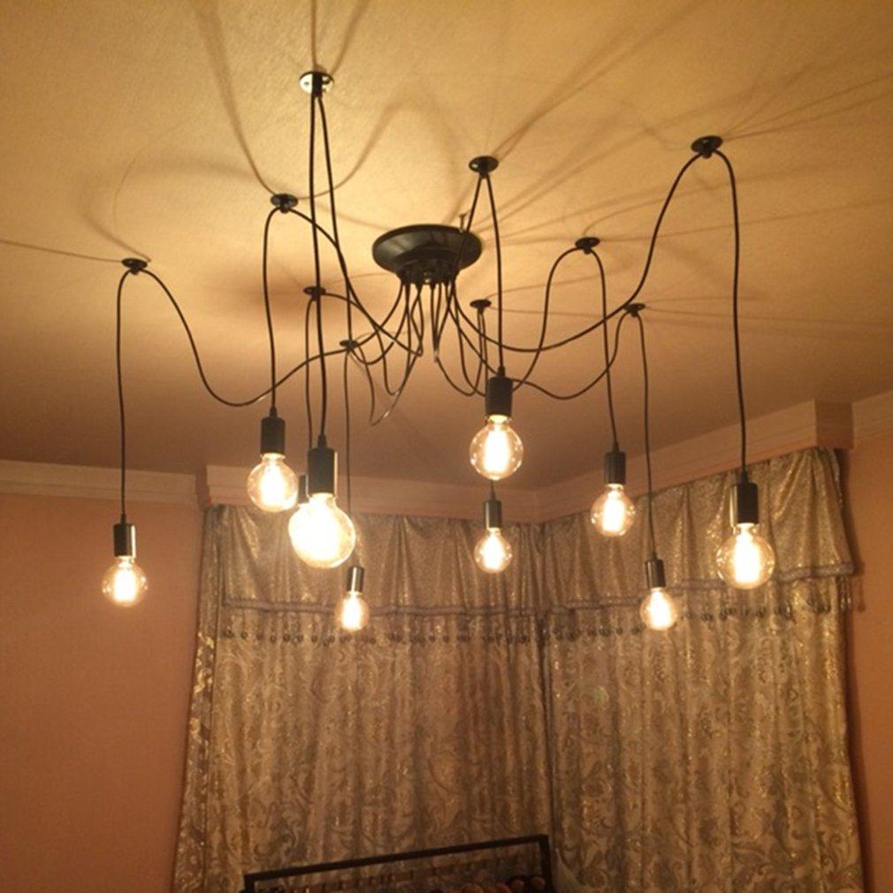 Lustre Pas Têtes Diy Plafond 10 De Avec ampoules Suspendue Lampe Nv8wOmn0