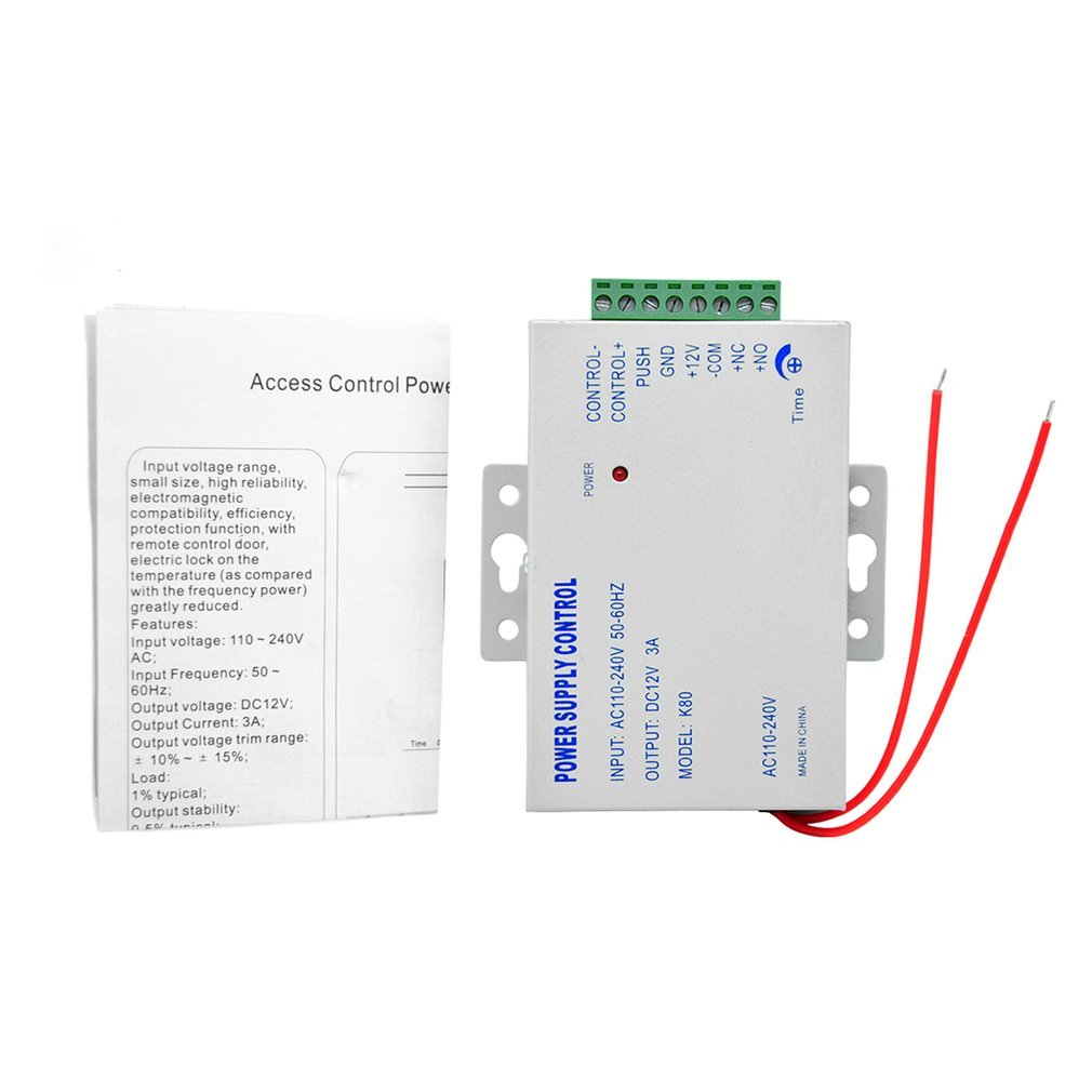 Dc12v 3a Door Access Control System Power Supply With Short Circuit Protection To Your Over Voltage For Machine