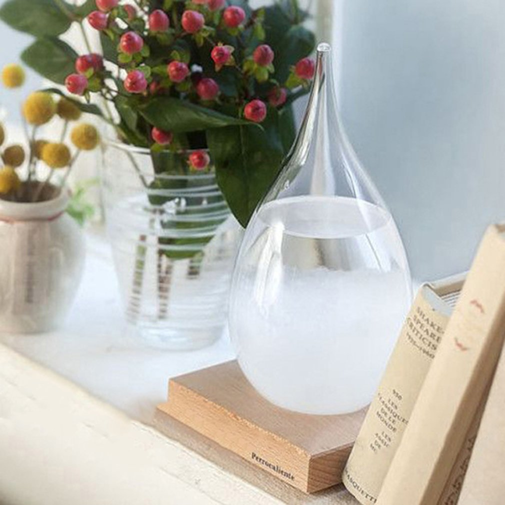 Details about Xmas Gift Storm Glass Weather Forecast Droplet Predictor  Bottle Barometer RF1