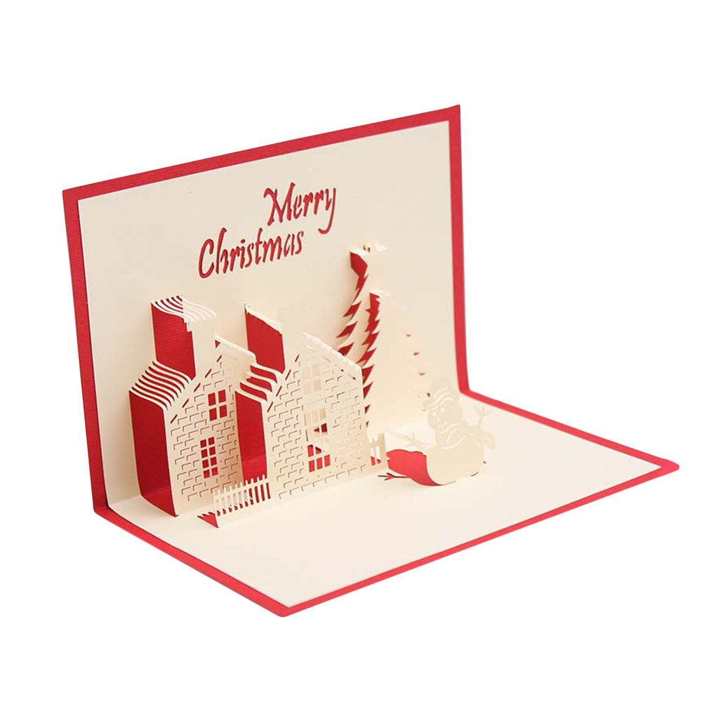 Beautiful Christmas Cards 3d Pop Up Merry Christmas Series Greeting