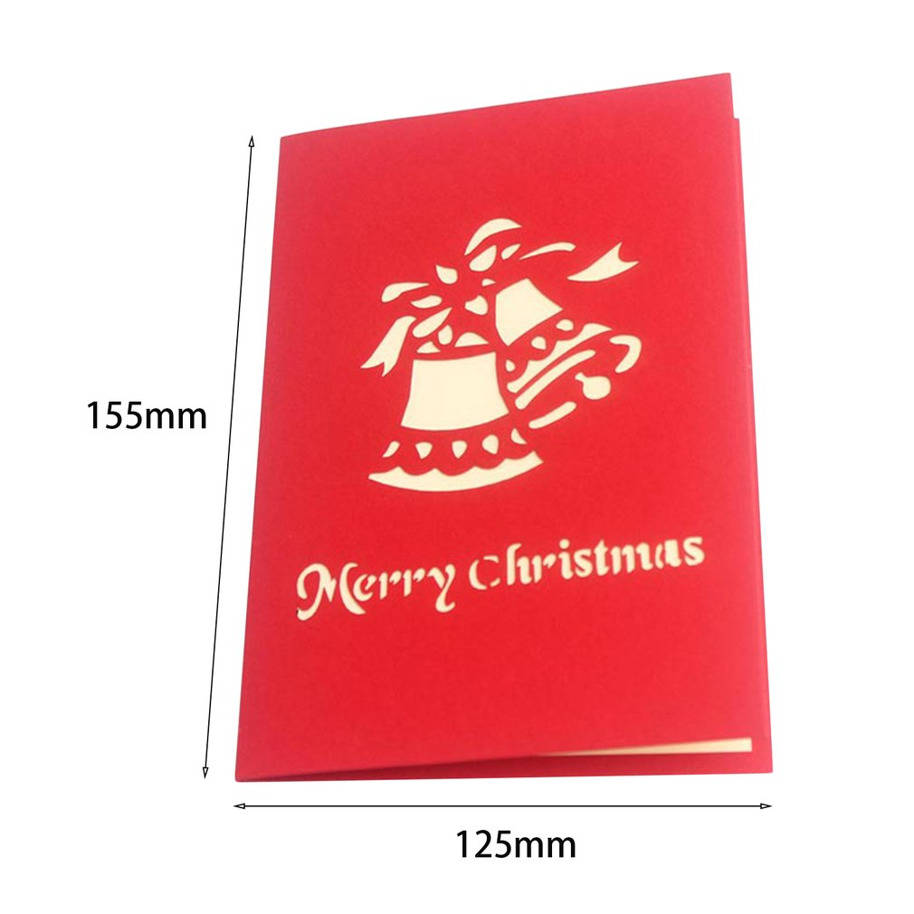 3d Pop Up Festival Greeting Cards Merry Christmas Trees Shape