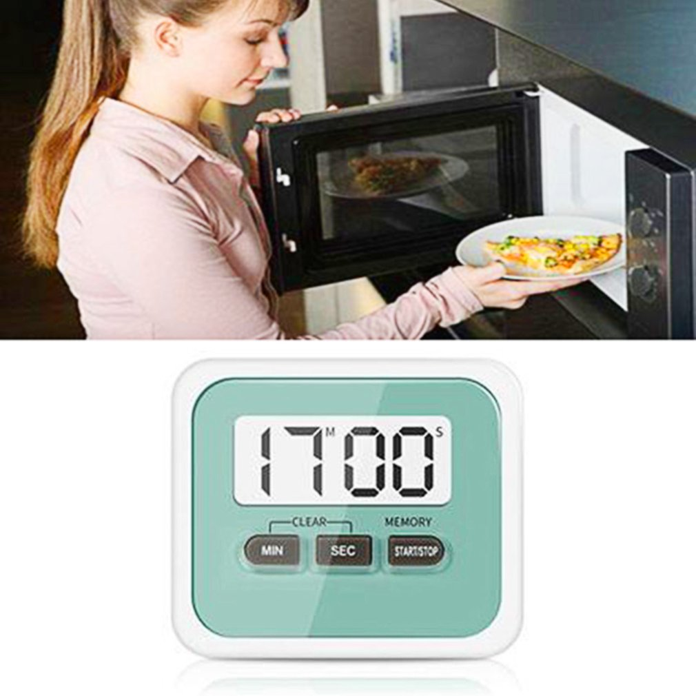 MAGNETIC DIGITAL LCD KITCHEN TIMER COUNT UP DOWN EGG COOKING CHEF ...