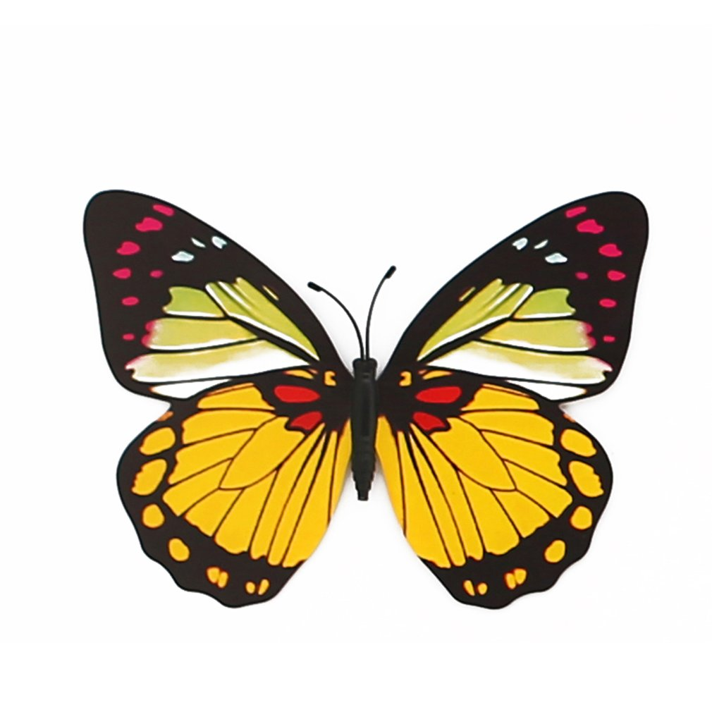 12cm Simulation Vivid Butterfly 3D PVC Wall Stickers Home Garden ...
