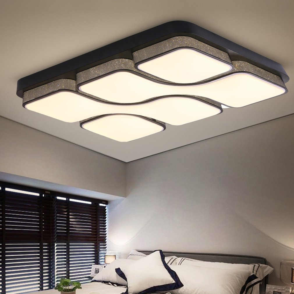 Lampe Plafond Salon Design blanc luminaire led plafonnier dimmable salon lampe plafond