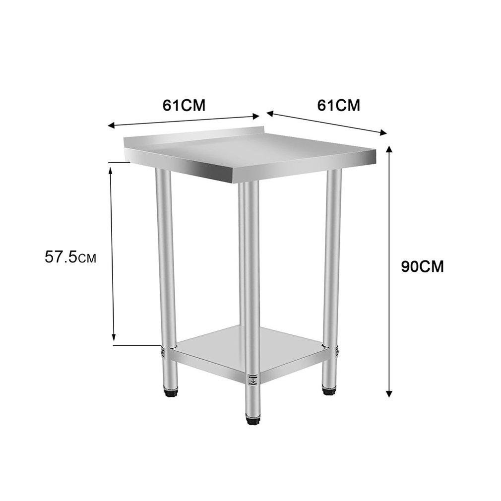Table Banc De Cuisine table de cuisine en acier inoxydable 2 couches avec banc de