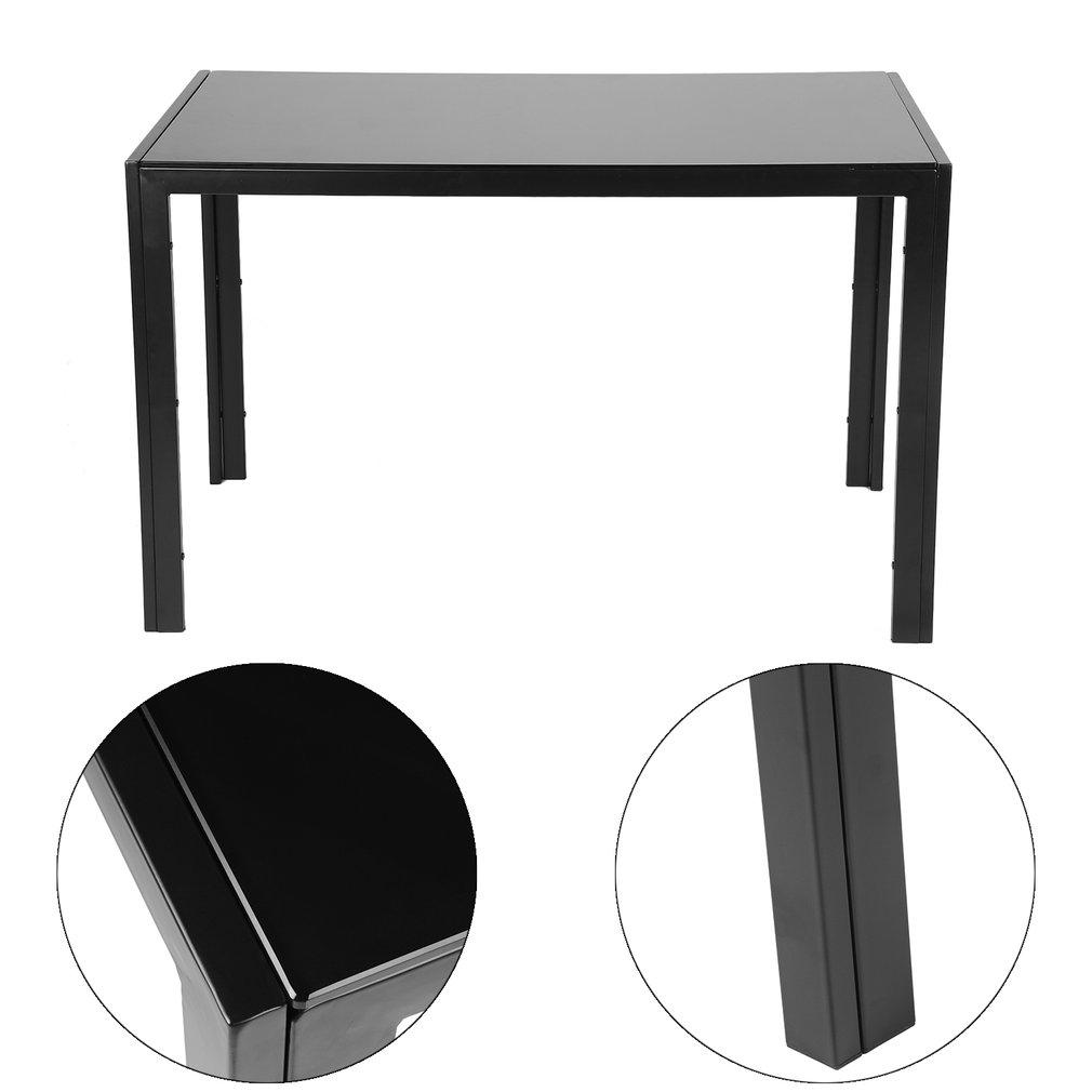 5PCS Dining Table Set Black White Modern Kitchen Room Furniture w