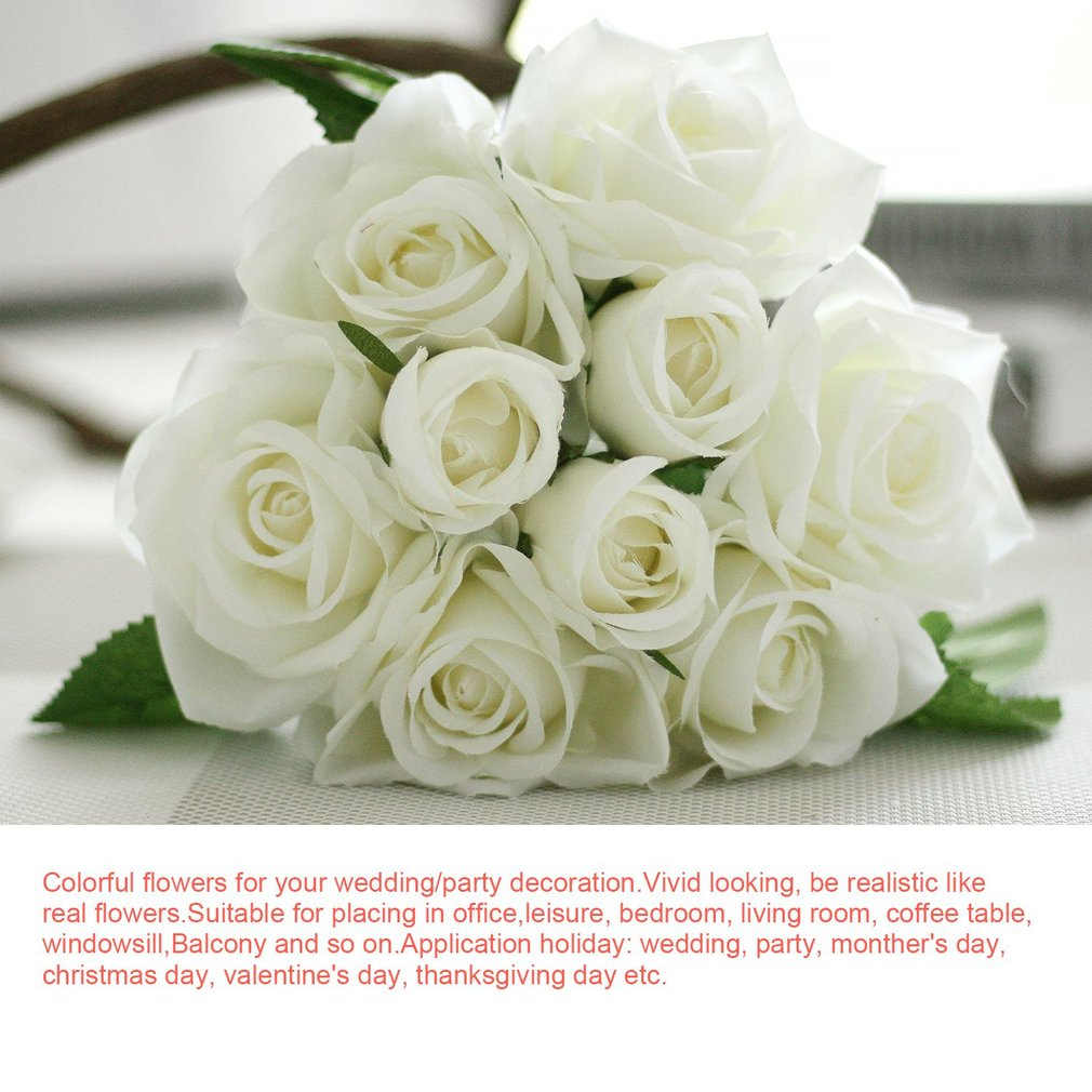 9 head pretty lovely cute rose flower wedding home decor bridal colorful flowers for your weddingparty decoration vivid looking be realistic like real flowers add them to your diy craft birthday send flower izmirmasajfo
