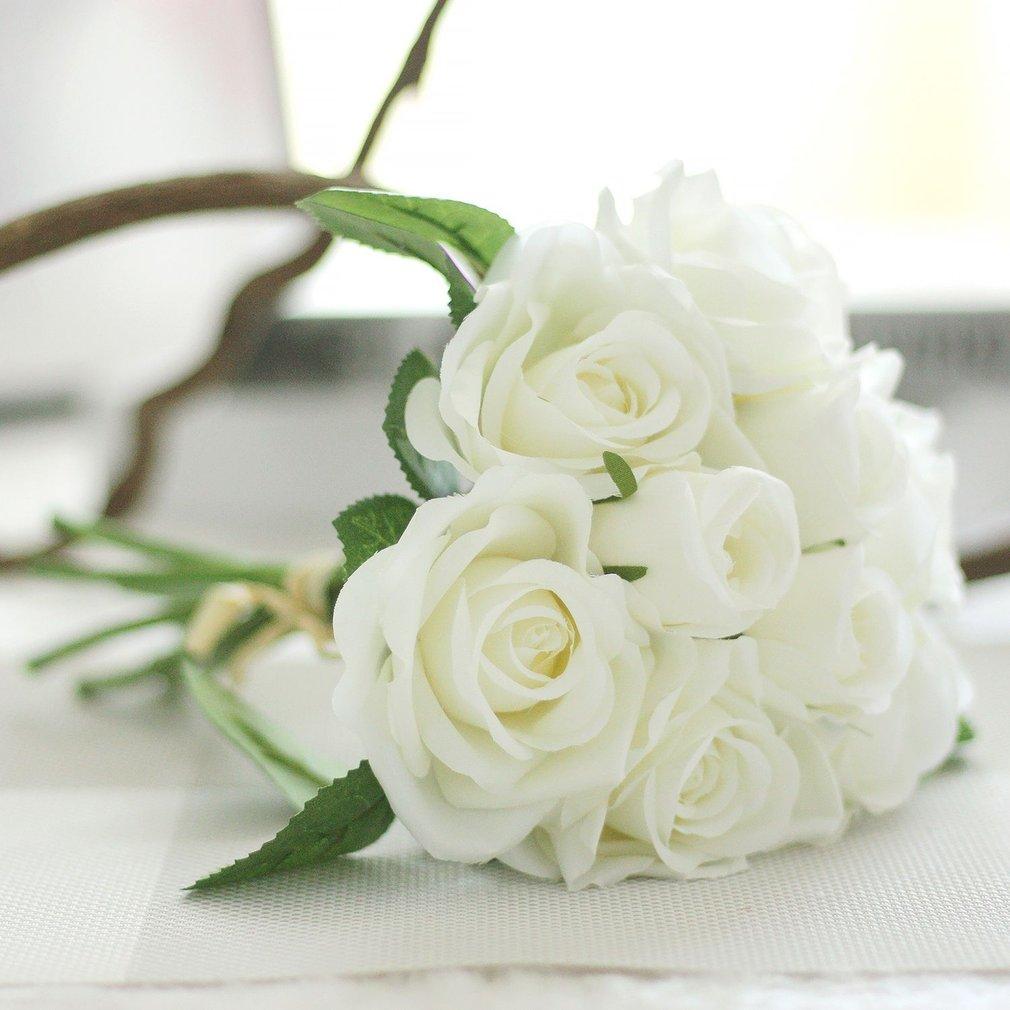 9 Head Pretty Lovely Cute Rose Flower Wedding Home Decor Bridal