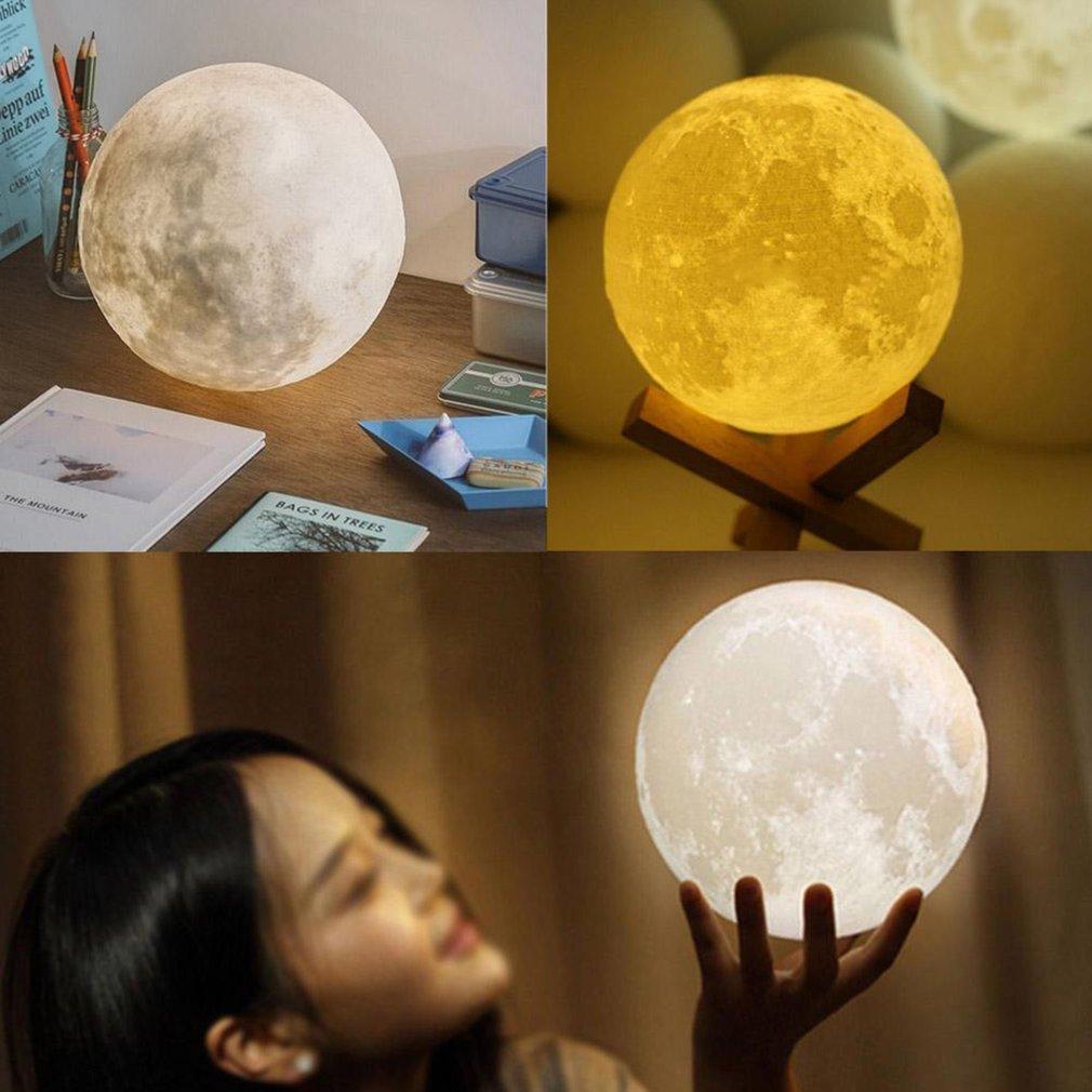 3d Moon Lamp Usb Led Night Light Moonlight Gift Touch